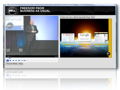 Sample Webcast Screen