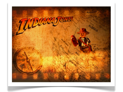 Indiana Jones blended image